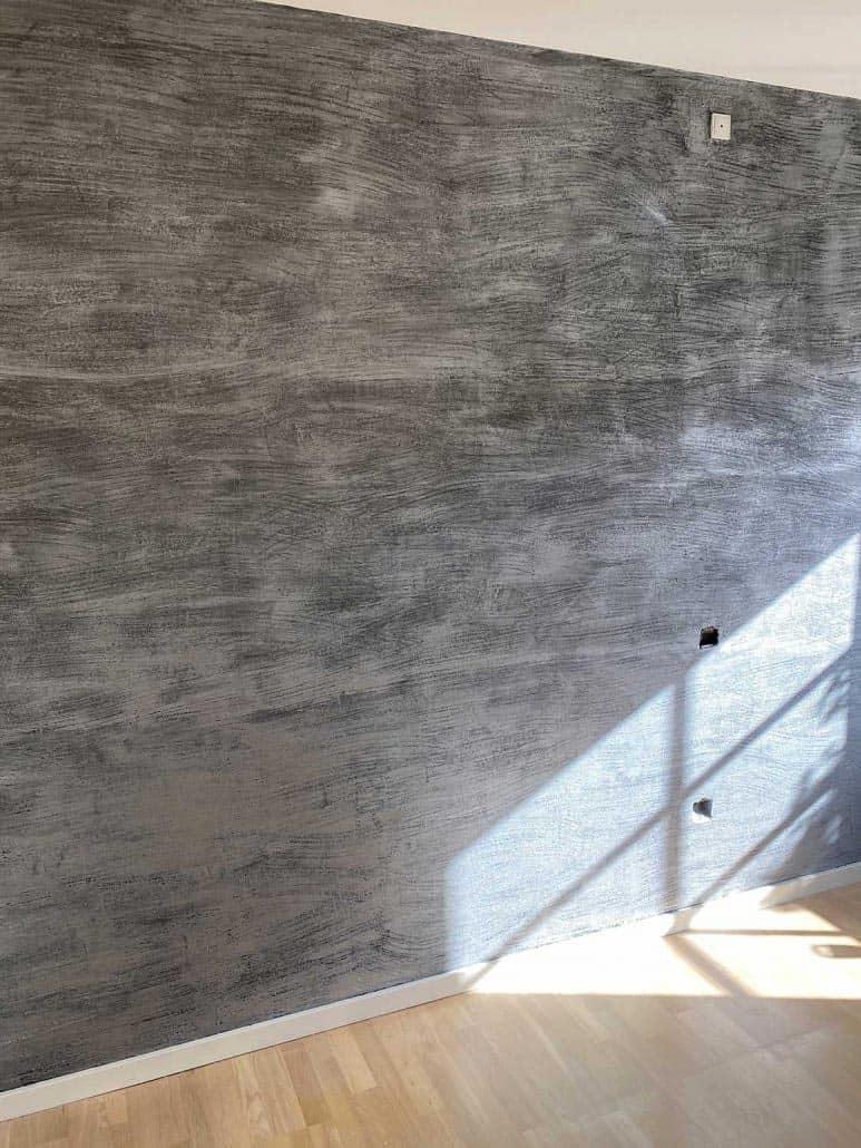 Væg med grå Design Spartel
