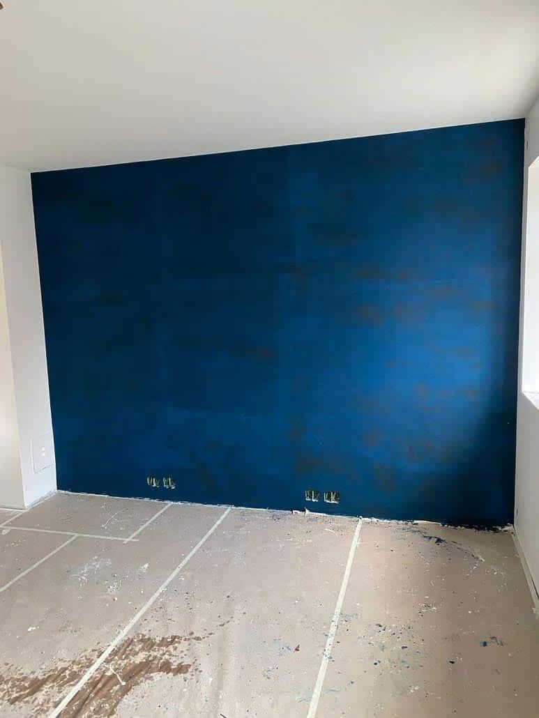 Væg med blåt Design Spartel
