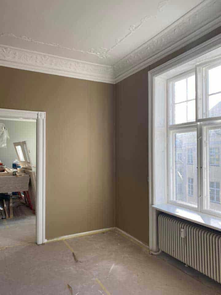 Malede vægge og lofter i lejlighed